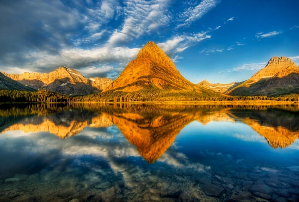 Озеро в Национальный парк ледник, США