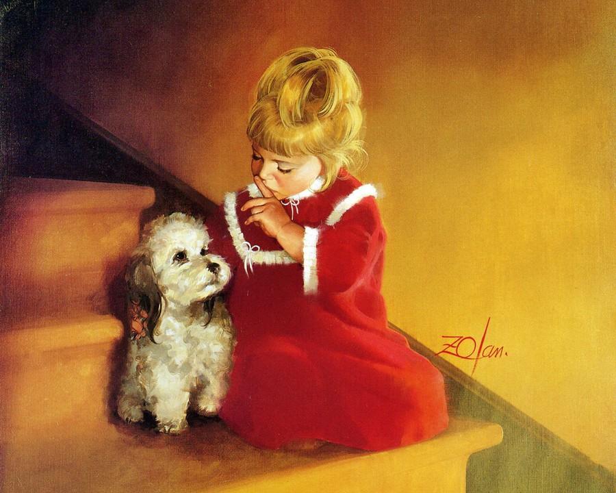 Теплая картина художника Дональда Золана