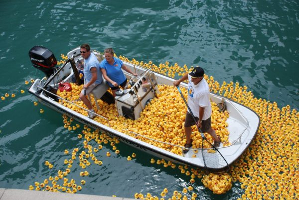 Rubber_ducks_in_Chicago_River_by_spudart