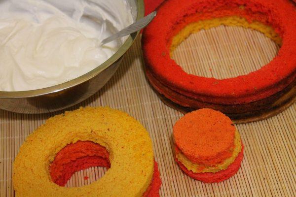 рецепт торта радуга с фото