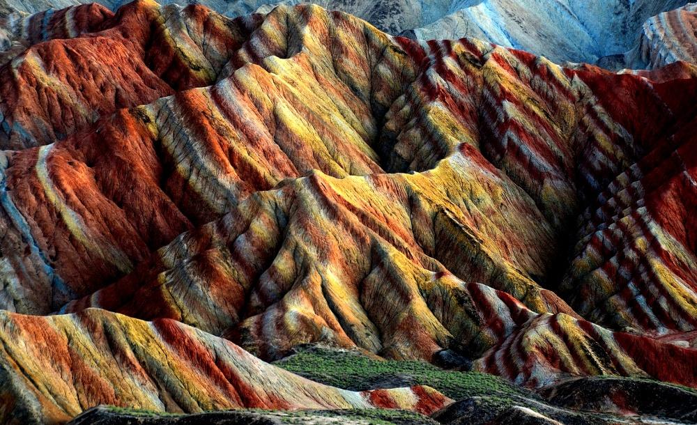 Радужные горы, Китай