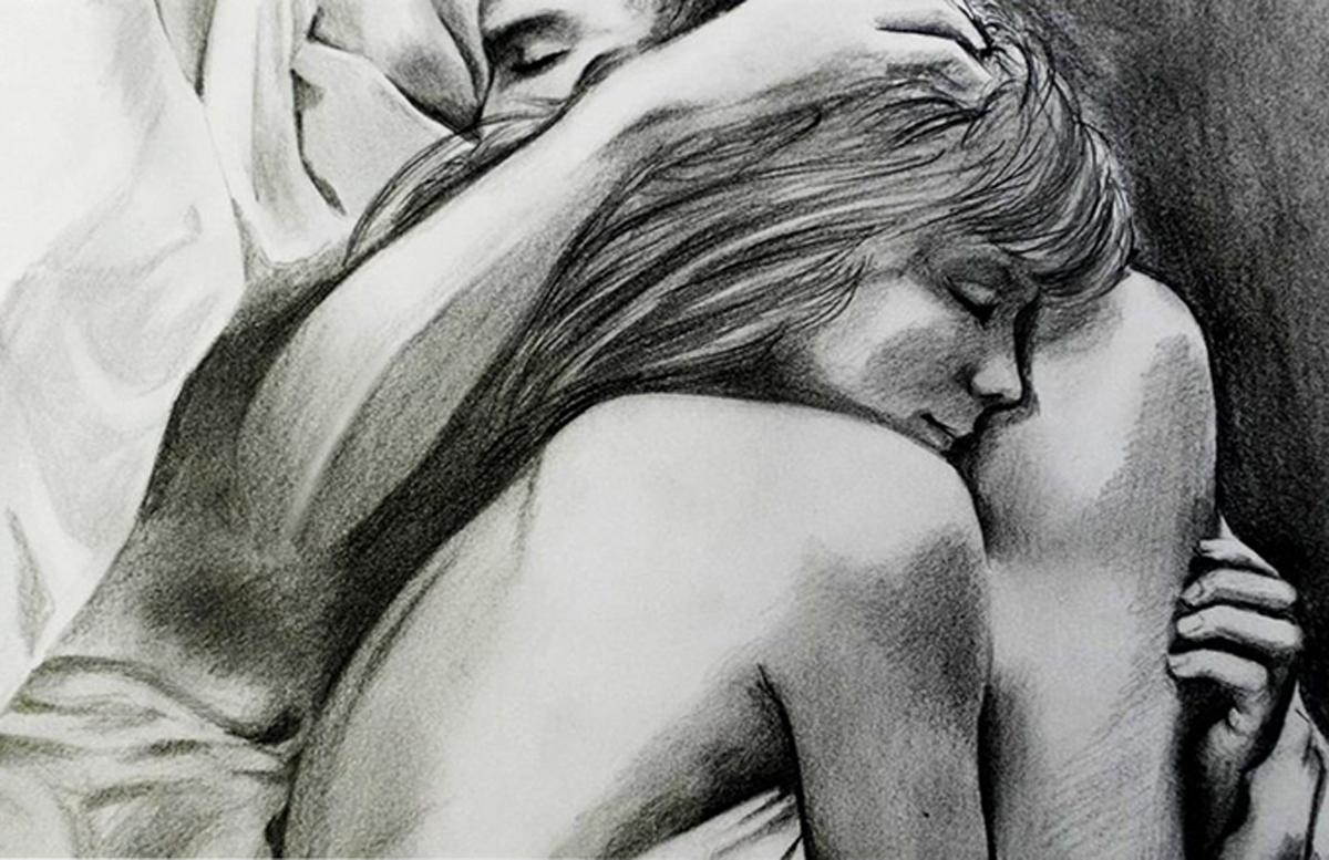 Другу удачу, красивые картинки мужчина и женщина любовные нарисованные